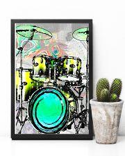 Drummer Green Drum Set 11x17 Poster lifestyle-poster-8