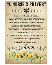 A Nurse's Prayer 11x17 Poster front