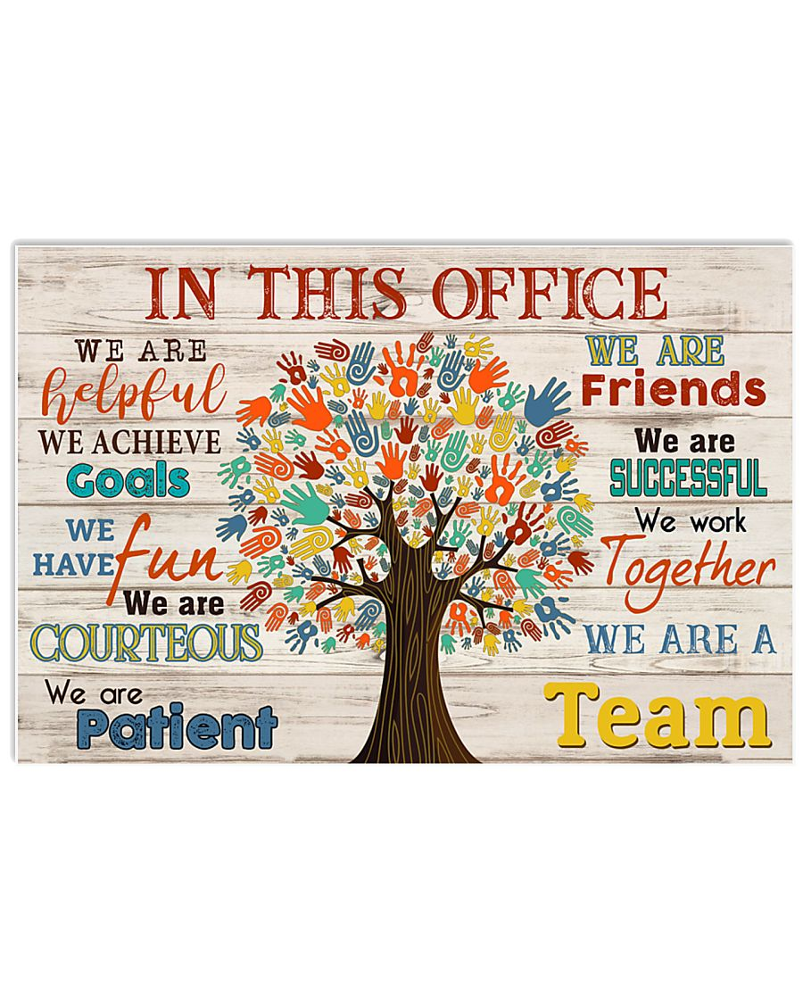 Chiropractor - We are a team 17x11 Poster