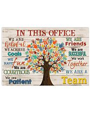 Chiropractor - We are a team 17x11 Poster front