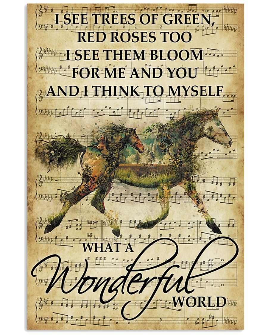 Horse Girl - What a wonderful world 11x17 Poster