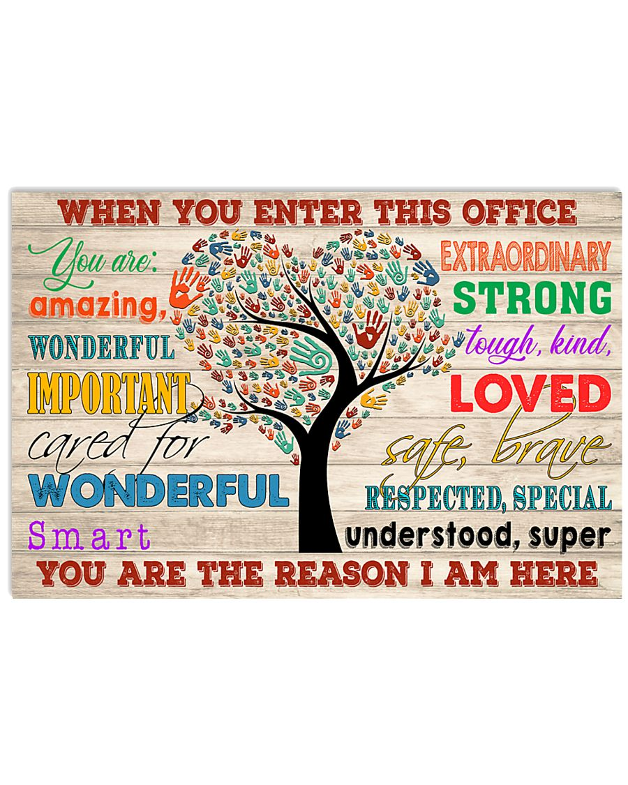Social Worker When You Enter This Office 17x11 Poster
