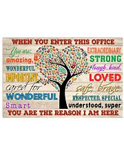 Social Worker When You Enter This Office 17x11 Poster front