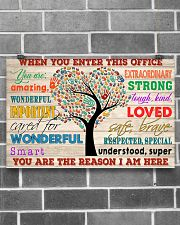 Social Worker When You Enter This Office 17x11 Poster poster-landscape-17x11-lifestyle-18