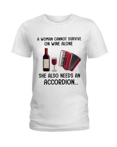 Accordionist woman needs