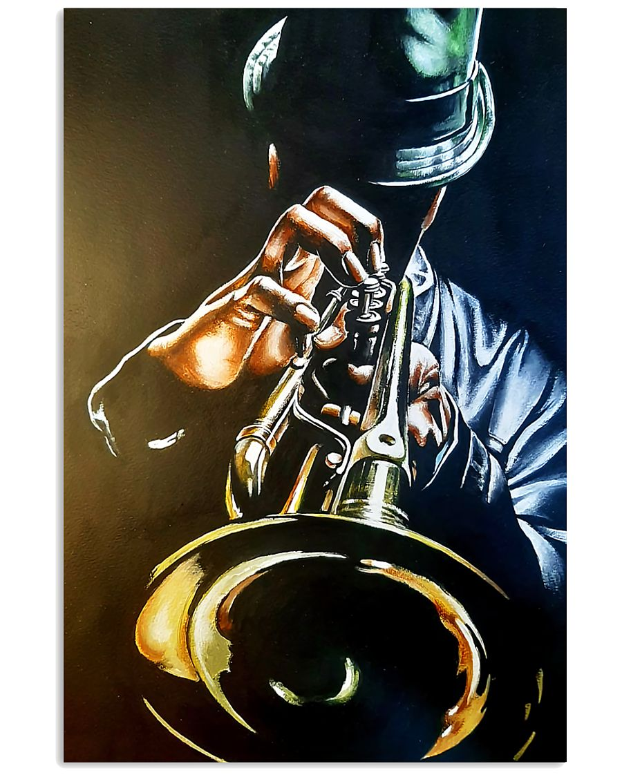Trumpet Man Art Painting 11x17 Poster