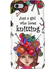 Just A Girl Who Loves Knitting Phone Case i-phone-7-case