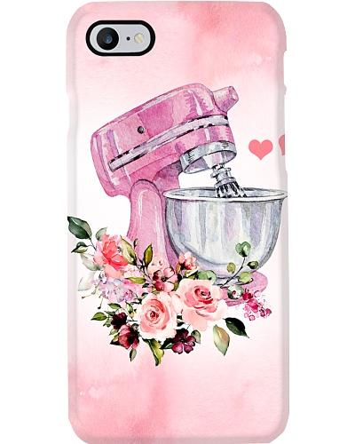 Baking Pink Flowery Electric Mixer