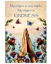 Yoga - My religion is very simple and kindness 11x17 Poster front