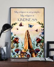 Yoga - My religion is very simple and kindness 11x17 Poster lifestyle-poster-2