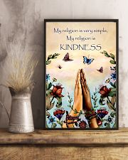 Yoga - My religion is very simple and kindness 11x17 Poster lifestyle-poster-3