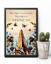 Yoga - My religion is very simple and kindness 11x17 Poster lifestyle-poster-8