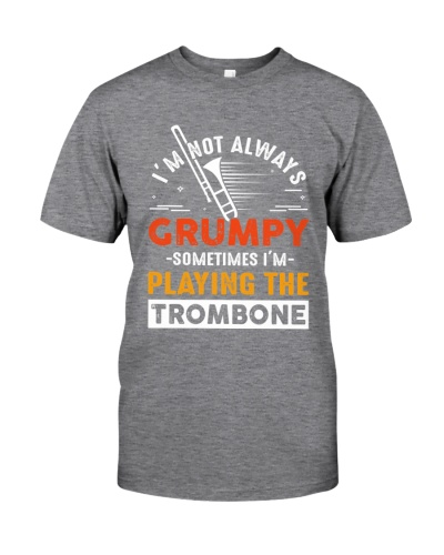 Trombonist not always grumpy playing the trombone