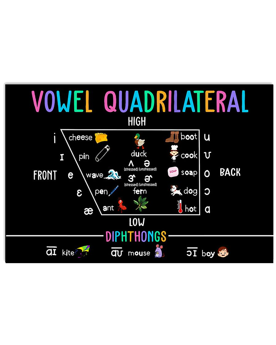 Speech Language Pathologist Vowel Quadrilateral 17x11 Poster
