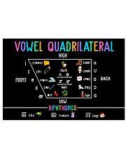 Speech Language Pathologist Vowel Quadrilateral 17x11 Poster front
