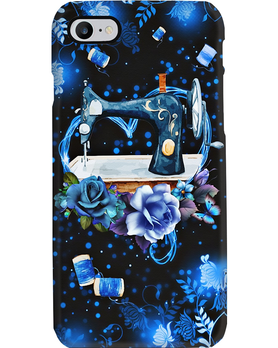 Blue Heart Twinkle Sewing Machine Phone Case