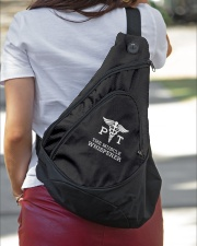 Physical Therapist the Muscle Whisperer Sling Pack garment-embroidery-slingpack-lifestyle-01