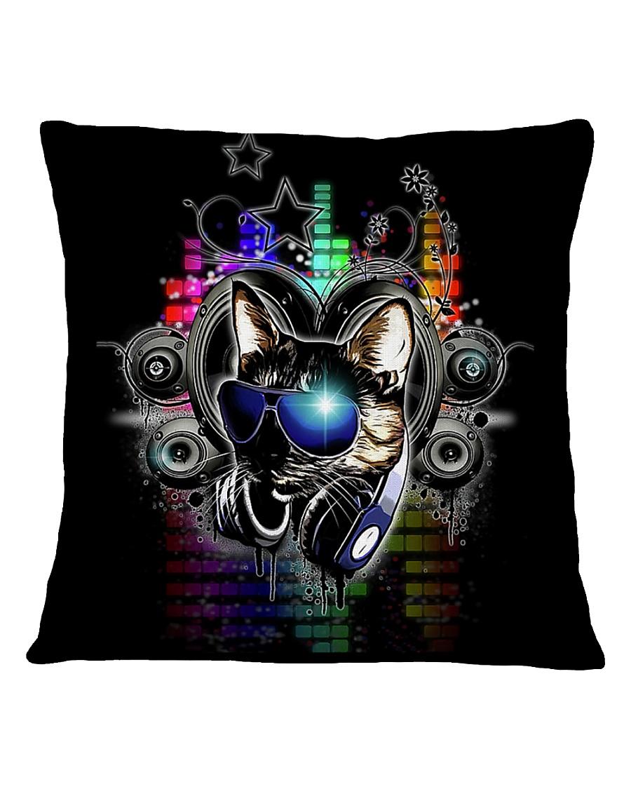 DJ Cat Square Pillowcase