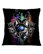 DJ Cat Square Pillowcase front