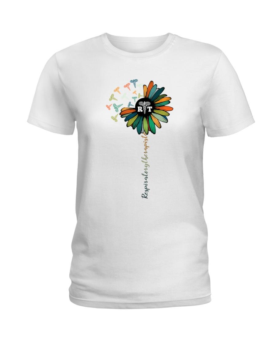 Respiratory Therapist Colorful Caduceus Symbols Ladies T-Shirt