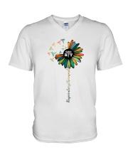 Respiratory Therapist Colorful Caduceus Symbols V-Neck T-Shirt thumbnail