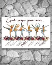 Ballet - God Says You Are Unique 17x11 Poster aos-poster-landscape-17x11-lifestyle-13
