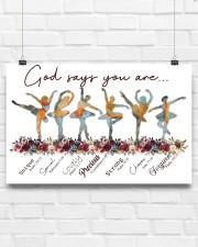 Ballet - God Says You Are Unique 17x11 Poster aos-poster-landscape-17x11-lifestyle-17