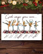 Ballet - God Says You Are Unique 17x11 Poster aos-poster-landscape-17x11-lifestyle-27