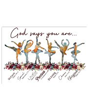 Ballet - God Says You Are Unique 17x11 Poster front