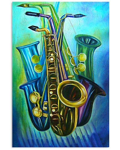 Saxophones Blue Art