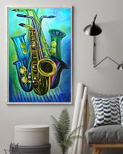 Saxophones Blue Art 11x17 Poster lifestyle-poster-1