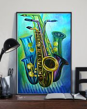 Saxophones Blue Art 11x17 Poster lifestyle-poster-2
