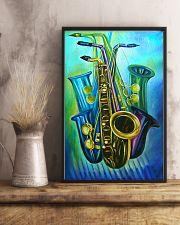 Saxophones Blue Art 11x17 Poster lifestyle-poster-3