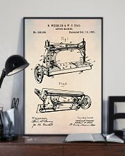 Sewing Machine Patent Vintage Print  11x17 Poster lifestyle-poster-2