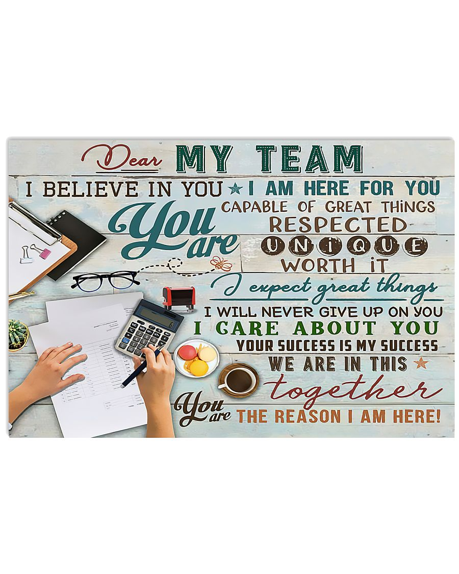 Accountant - You Are The Reason I Am Here 17x11 Poster
