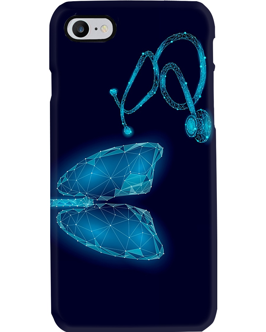 Respiratory Therapist 3D Lungs And Stethoscope Art Phone Case