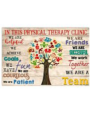 In This Physical Therapy Clinic We Work Together 17x11 Poster front