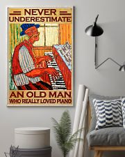 Piano An Old Man Who Really loved Piano 11x17 Poster lifestyle-poster-1