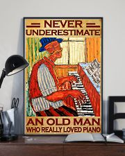 Piano An Old Man Who Really loved Piano 11x17 Poster lifestyle-poster-2