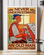Piano An Old Man Who Really loved Piano 11x17 Poster lifestyle-poster-4