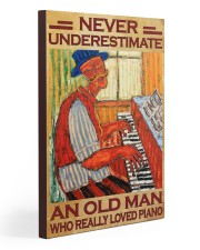 Piano An Old Man Who Really loved Piano 20x30 Gallery Wrapped Canvas Prints thumbnail