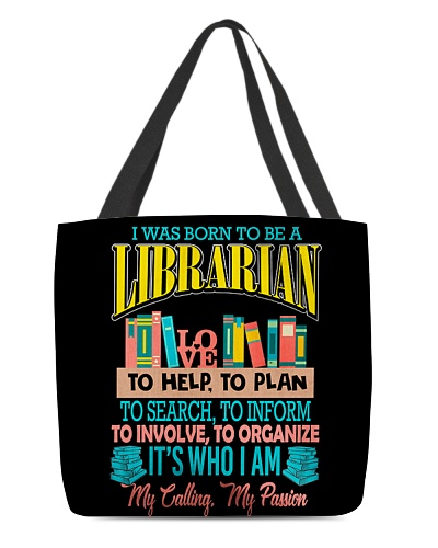 I Am A Librarian All-over Tote