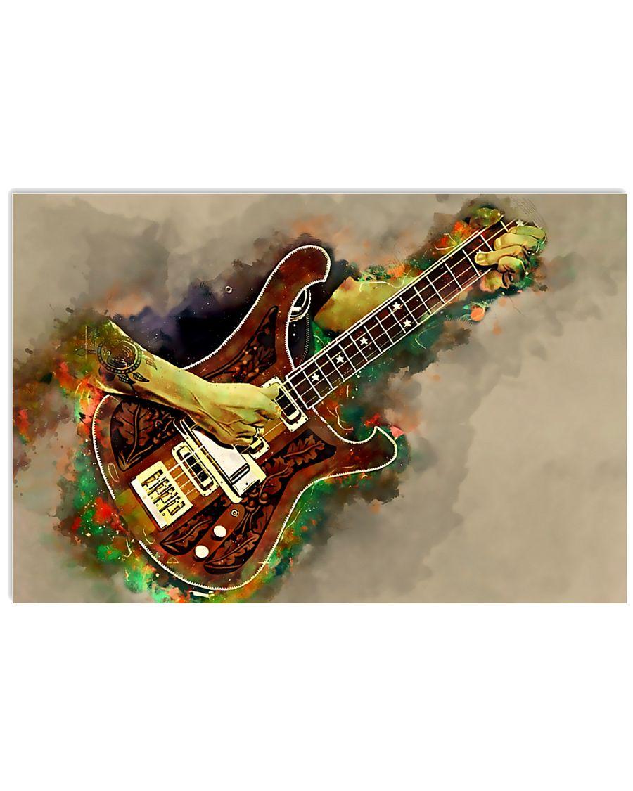 Electric Bass Guitar Art 17x11 Poster