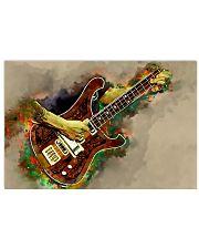 Electric Bass Guitar Art 17x11 Poster front