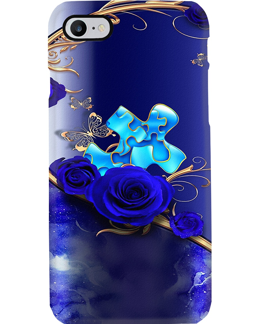 Autism Awareness Blue Roses Phone Case