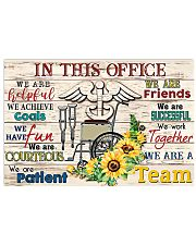 Physical Therapists In This Office We Are A Team 17x11 Poster front