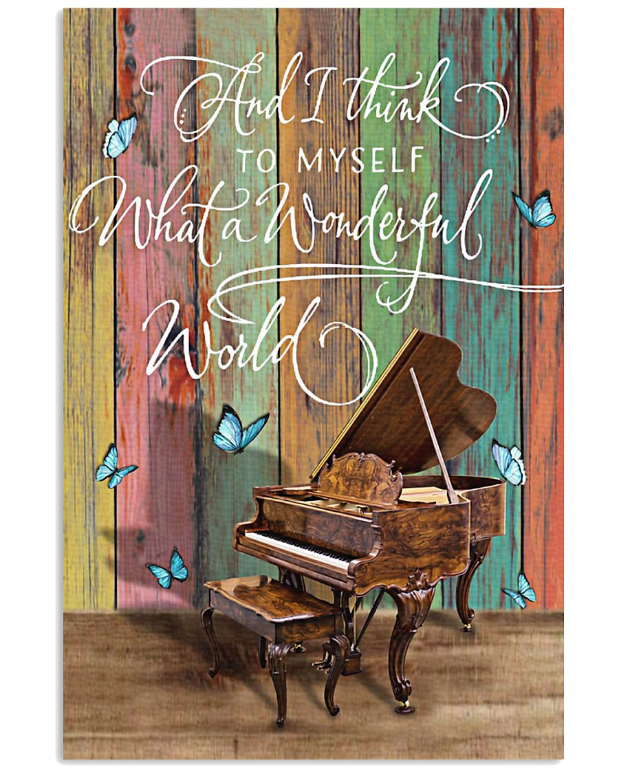 Pianist What a wonderful world 11x17 Poster