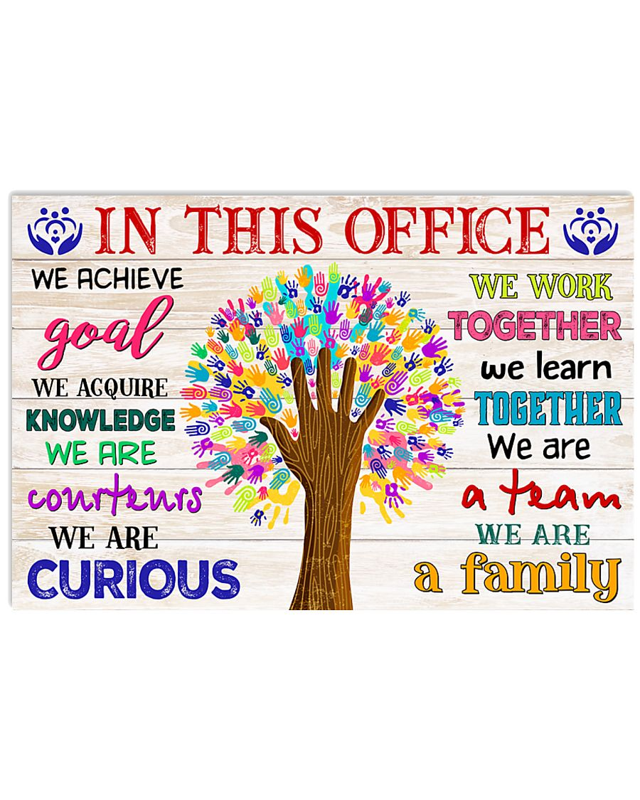 Social worker we are a family 17x11 Poster