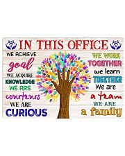 Social worker we are a family 17x11 Poster front
