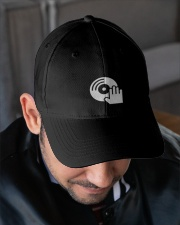 DJ Scratching Hand Embroidered Hat garment-embroidery-hat-lifestyle-02
